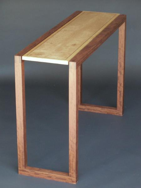 Console Table in Quilted Maple and Bubinga