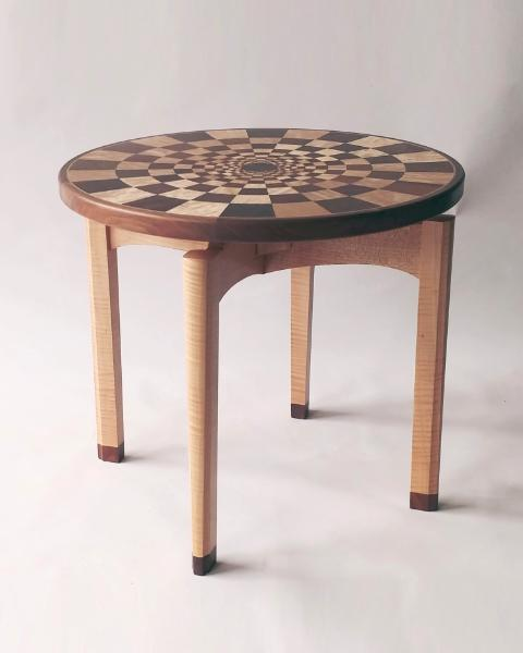 Occasional table, end table, op-art table