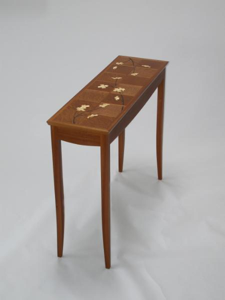 Console Table with Dogwood Marquetry