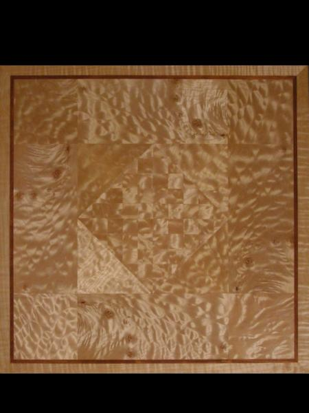 Table top of quilted maple
