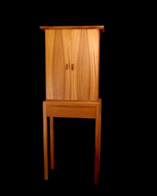 Mahogany Cabinet on Stand